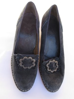 Vintage Zapatos de cuña azul oscuro