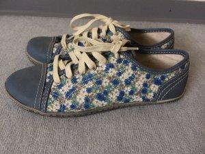 blaue Schuhe / Sneakers mit Blumenmuster von Citywalk - Gr. 38