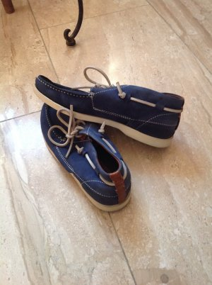 Campus by Marc O'Polo Sailing Shoes steel blue-cornflower blue suede