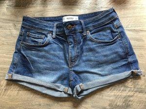 Blaue, sexy Jeans-Shorts in Größe 34 von Mango