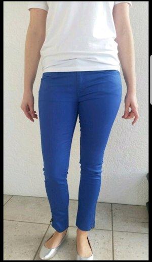 Blaue Skinny-Fit Hose