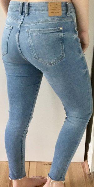 Blaue skinny stretch jeans