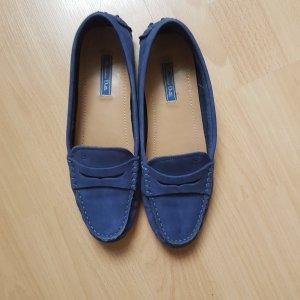 blaue Slipper Massimo Dutti, Gr. 38