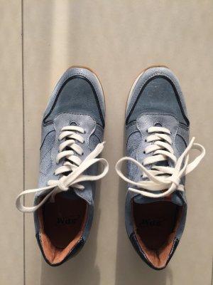 Blaue Sneakers SPM, Leder, Gr. 37, zweimal getragen!