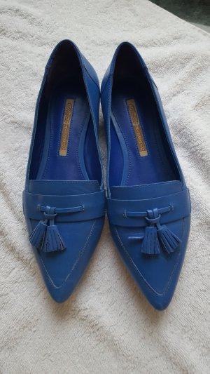 Buffalo London Lage schoenen blauw Leer