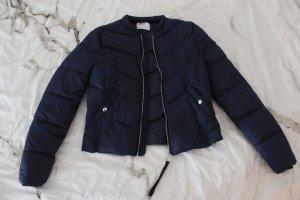 Bershka Donsjack blauw-donkerblauw Polyester