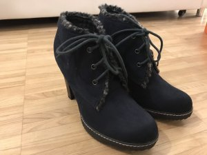 Lace-up Booties dark blue