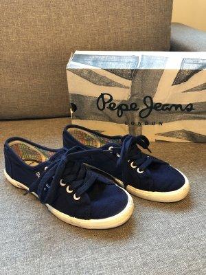 Blaue Stoffturnschuhe von Pepe Jeans