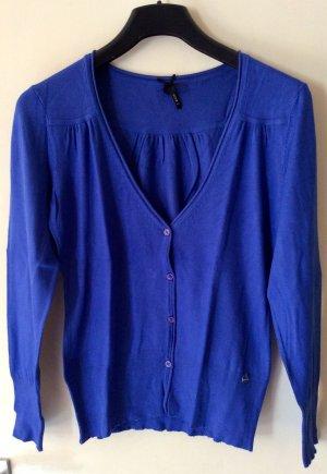 Yessica Veste en tricot bleu