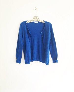 blaue strickjacke / cardigan / vintage / granny / boho / königsblau