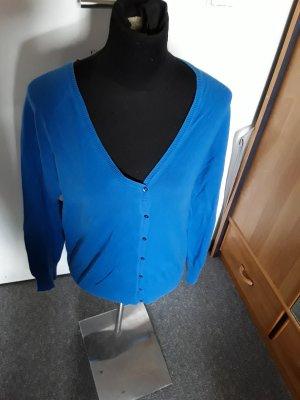 blaue Strickjacke mit Knöpfe - Yessica - Größe M - mit Knöpfen