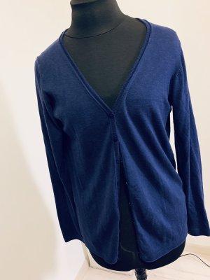 Basefield Gilet tricoté bleu-bleu foncé