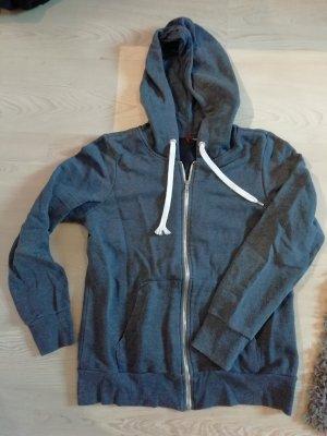 H&M Sweat Jacket slate-gray-steel blue
