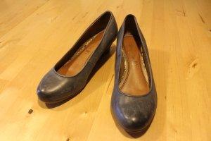 Blaue Tamaris Schuhe mit Keilabsatz Gr. 38
