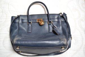 Michael Kors Carry Bag blue-dark blue leather
