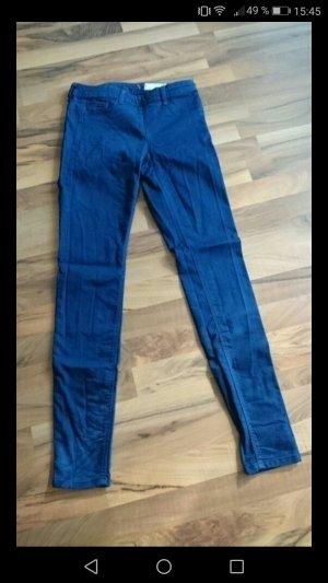 Blaue Treggings in Jeans Optik