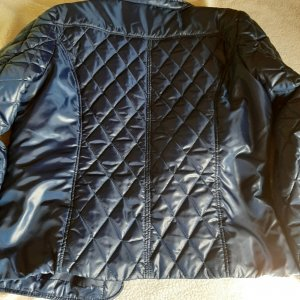 Quilted Jacket blue polyester