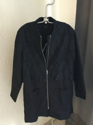 COS Long Jacket dark blue cotton