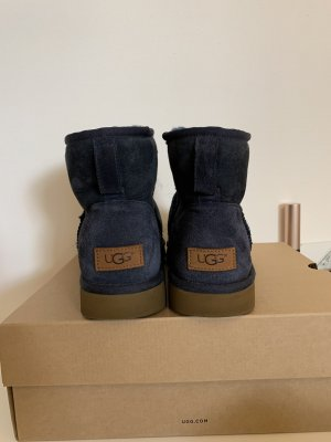 UGG Ankle Boots dark blue leather