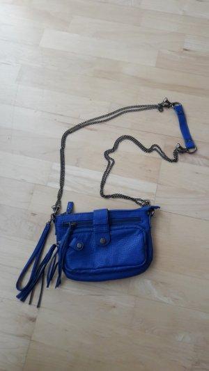 Blaue Umhängetasche/Abendtasche