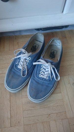 Blaue VANS Schnürschuhe Sneakers US Wo 10,5