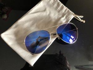 Blaue Verspiegelt Pulotenbrile Metallic