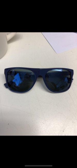 Blaue verspiegelte Emporio Armani Wayfarer Sonnenbrille