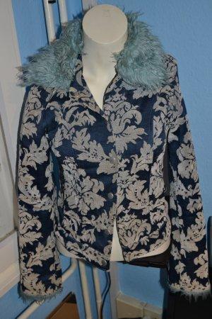 blaue vintage Jacke mit verzierungen