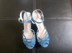 Blaue Wedges Sandaletten