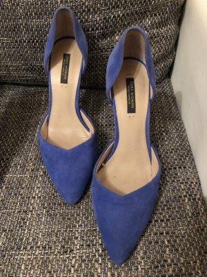 Blaue Wildleder high heels