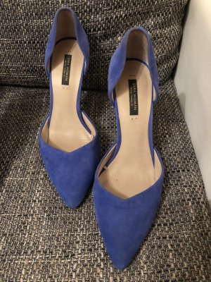 Blaue Wildleder high heels