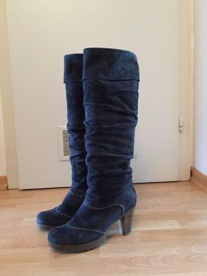 Blaue Wildleder Stiefel in Größe 41