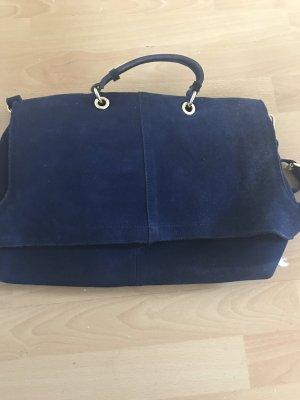 Blaue wildleder Tasche