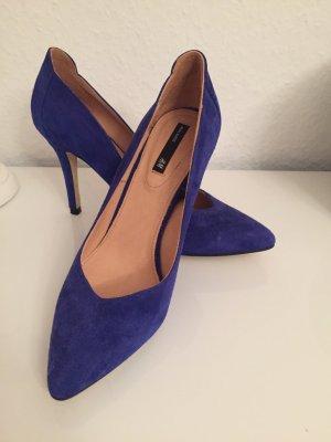 Blaue Wildlederpumps von H&M