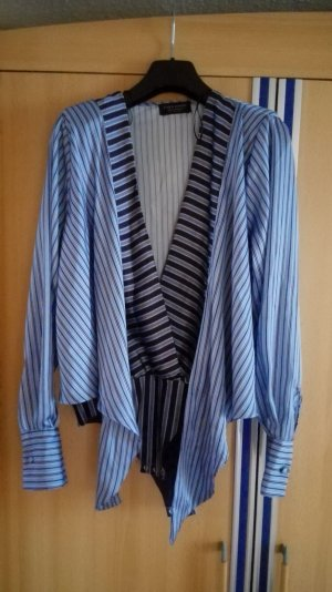 Blaue Zara Bluse in Wickeloptik Größe 36 S