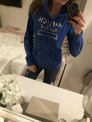 Abercrombie & Fitch Hooded Sweater steel blue cotton
