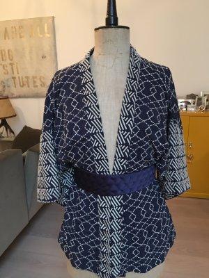 Blauer Baumwoll-Kimono von Mango