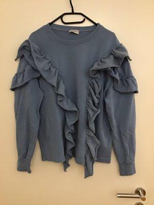Blauer Baumwoll Pullover