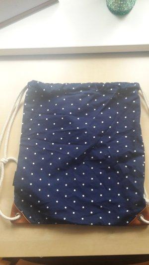 Pouch Bag blue-white cotton