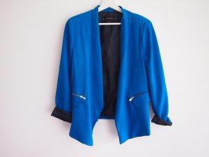 Zara Basic Sweat Blazer black-petrol polyester