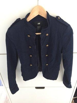H&M Sweat Blazer dark blue cotton
