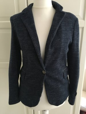 Zara Basic Boyfriend Blazer steel blue