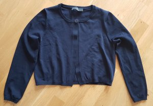 Knitted Bolero dark blue mixture fibre