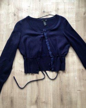 H&M Bolero lavorato a maglia blu scuro