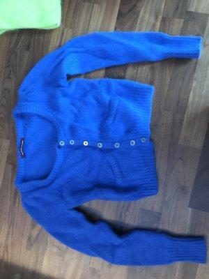 Blauer Cardigan aus Angora Gr S von Comtoir des Cotonners