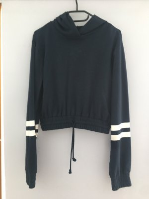 H&M Jersey con capucha azul oscuro