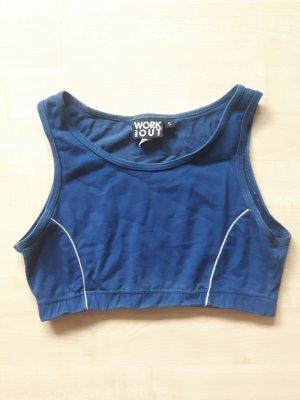 blauer elastischer Sport BH