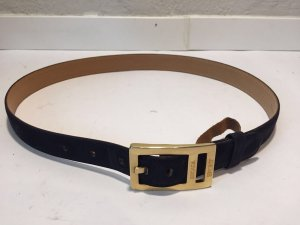 Escada Sport Leather Belt gold-colored-dark blue