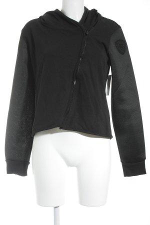Blauer Fleece jack zwart simpele stijl