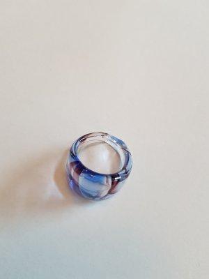 blauer Glasring
